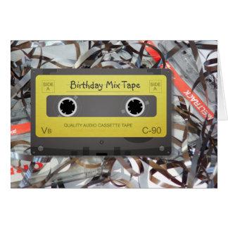 Cassette Analog Mix Tape Birthday Card