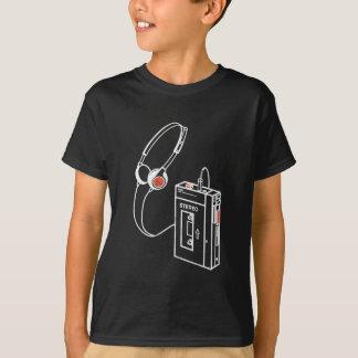 Cassette analogue audio vieux Scho de lecteur de T-shirt