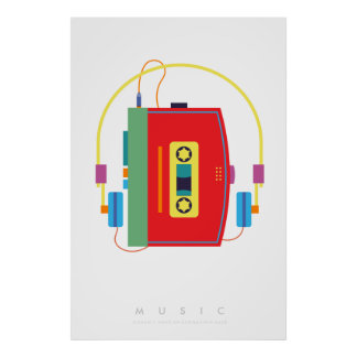 Cassette Player | Pop Art Poster 70s 80s | Quote