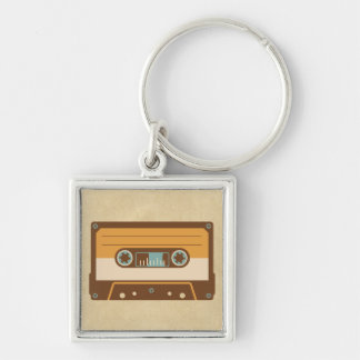 Cassette Tape Analog Design Keychain