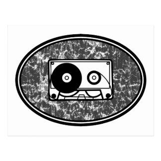 Cassette Tape Black White Postcard