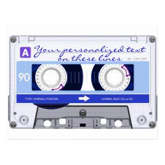 Cassette tape - blue - post card