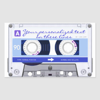 Cassette tape - blue - sticker