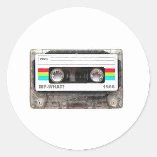 Cassette Tape Classic Round Sticker