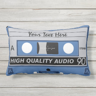 Cassette Tape custom throw pillow