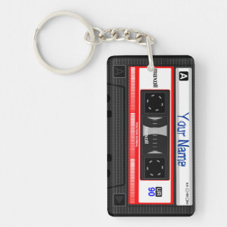 Cassette Tape Customizable Key Chain, Vintage Acrylic Key Chains