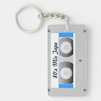 Cassette Tape Double-Sided Rectangular Acrylic Keychain