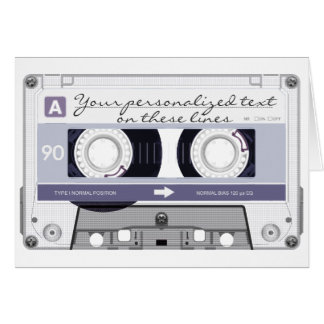 Cassette tape - grey - card
