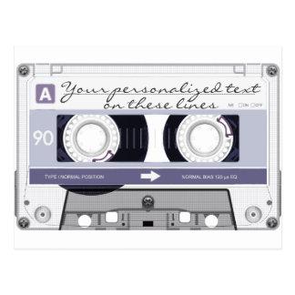 Cassette tape - grey - postcards