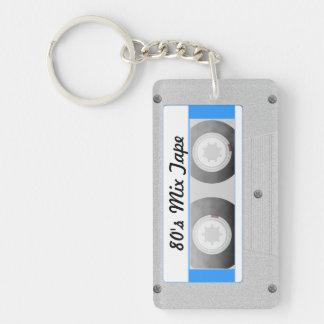 Cassette Tape Rectangular Acrylic Key Chain