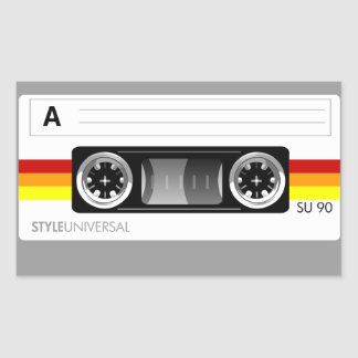 Cassette tape label sticker