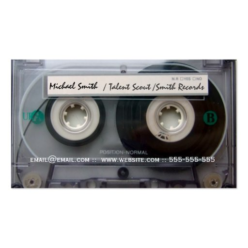 Cassette Tape Music Records Business Cards