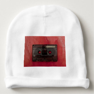 Cassette tape music vintage red baby beanie