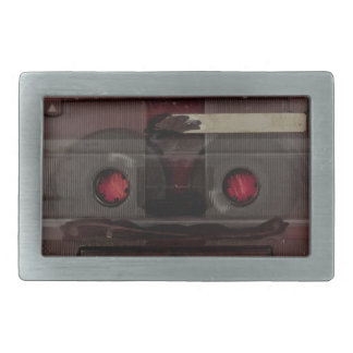 Cassette tape music vintage red belt buckle