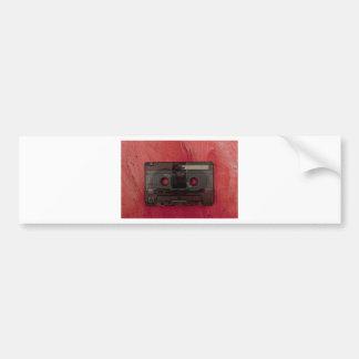 Cassette tape music vintage red bumper sticker