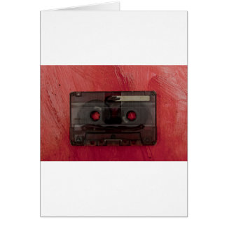 Cassette tape music vintage red card