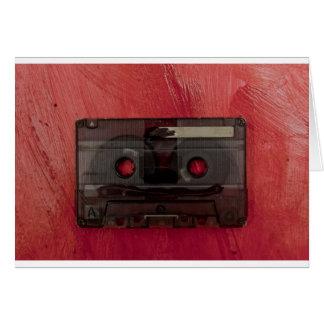 Cassette tape music vintage red card