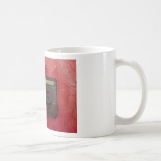 Cassette tape music vintage red coffee mug