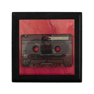 Cassette tape music vintage red gift box
