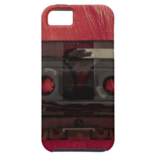 Cassette tape music vintage red iPhone 5 case