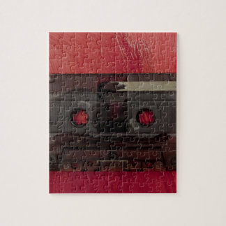 Cassette tape music vintage red jigsaw puzzle