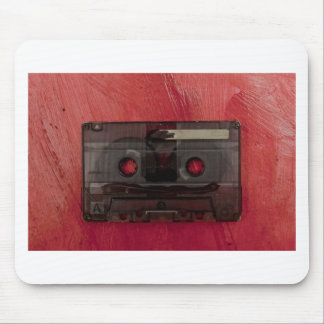 Cassette tape music vintage red mouse pad