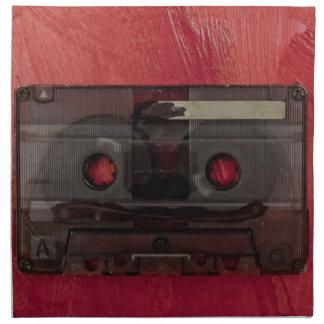 Cassette tape music vintage red napkin