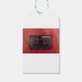Cassette tape music vintage red pack of gift tags