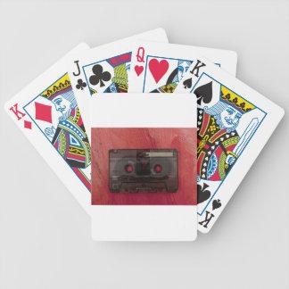 Cassette tape music vintage red poker deck