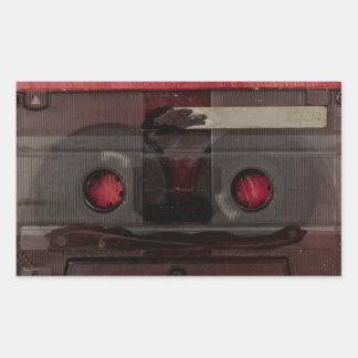 Cassette tape music vintage red sticker