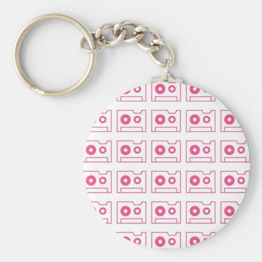 Cassette Tape Pattern Key Chains