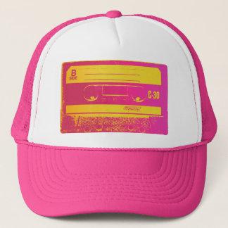 Cassette Tape Pink & Yellow Trucker Hat