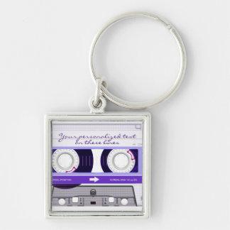 Cassette tape - purple - keychains