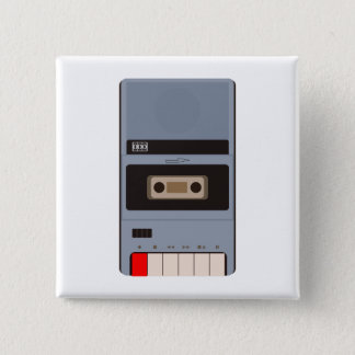 Cassette Tape Recorder 2 Inch Square Button