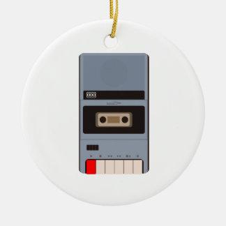 Cassette Tape Recorder Ceramic Ornament