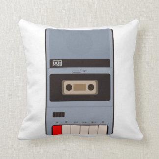 Cassette Tape Recorder Throw Pillow