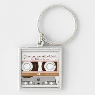 Cassette tape - tan - key chains