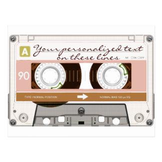 Cassette tape - tan - postcard