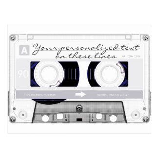 Cassette tape - white - post card