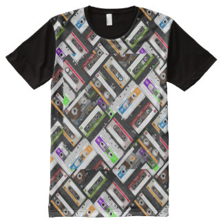 Cassette Tapes All Over All-Over-Print T-Shirt