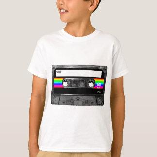 Cassette w/Black and Rainbow Stripe Label T-Shirt