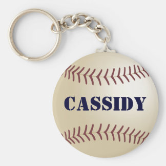 Cassidy Baseball Keychain by 369MyName