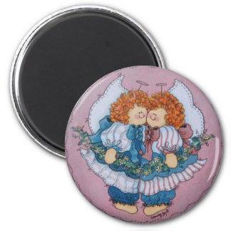 Cassie and Clarissa Twins Angel Magnet