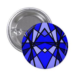 Cassie's art Blue modern stained glass 1 Inch Round Button