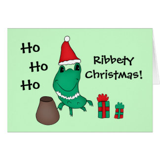 Cassie's cute Christmas frog Ribbety Christmas Card