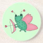 Cassie's Valentine's Day frog fairy Coaster