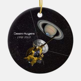 Cassini Huygens Mission to Saturn Ceramic Ornament