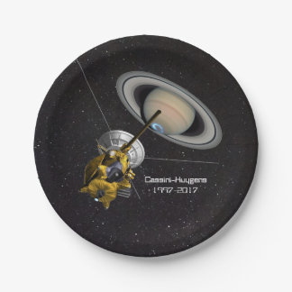 Cassini Huygens Mission to Saturn Paper Plate