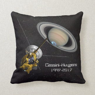 Cassini Huygens Mission to Saturn Throw Pillow
