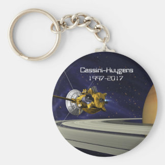 Cassini Huygens Saturn Mission Spacecraft Keychain